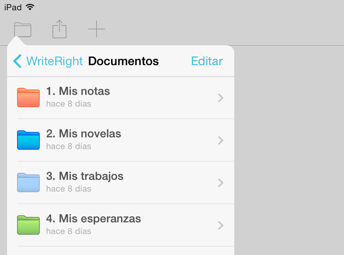 WriteRight app de edición